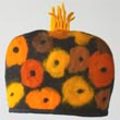 yellow poppies tea cozy